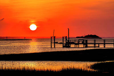Photograph - Sunrise - Bogue Sound by Timothy Harris