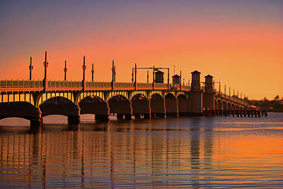 Photograph - Sunrise Bridge Of Lions by Stacey Sather