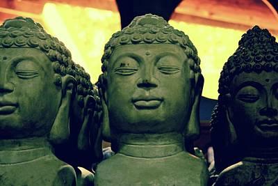 Photograph - Sunrise Buddhas by Brian Sereda