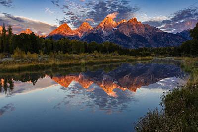 Teton Wall Art - Photograph - Sunrise Burning II by Mike Lang