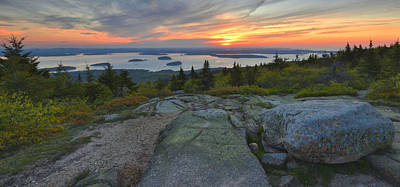 Photograph - Sunrise - Cadillac Mountain by Stephen  Vecchiotti