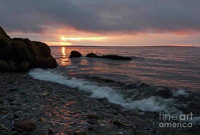 Photograph - Sunrise, Camden, Maine  -18901 by John Bald