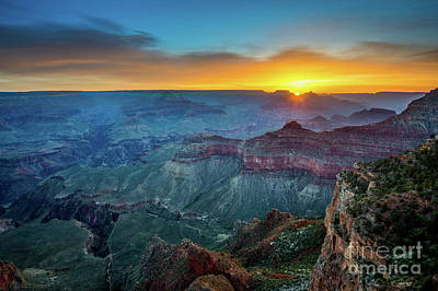 Sunrise Canyon Art Print