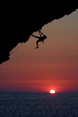 Sunrise Climber Art Print by Neil Buchan-Grant