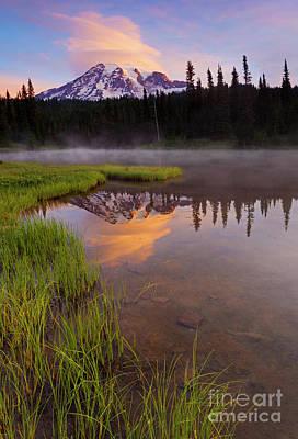 Photograph - Sunrise Cloud Cap by Mike Dawson