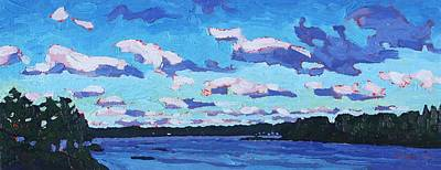 Conservationist Painting - Sunrise Cloud Streets by Phil Chadwick