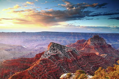 Photograph - Sunrise Clouds Grand Canyon  by Roupen  Baker