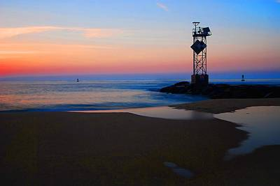 Photograph - Sunrise Coming At Ocean City Inlet by Bill Jonscher