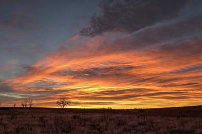Photograph - Sunrise Creates Fire In The Sky by Tony Hake