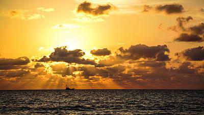 Photograph - Sunrise Cruiser Delray Beach Florida by Lawrence S Richardson Jr