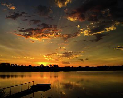 Photograph - Sunrise Dock by Jeff Phillippi
