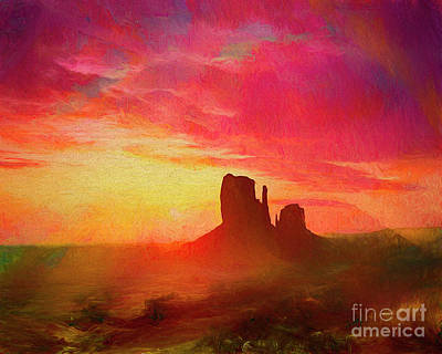 Digital Art - Sunrise by Edmund Nagele