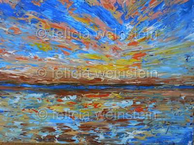 Painting - Sunrise by Felicia Weinstein