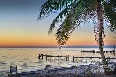 Photograph - Sunrise First Light Painting The Sky by David Zanzinger