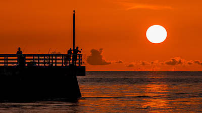 Photograph - Sunrise Fishermen by Don Durfee