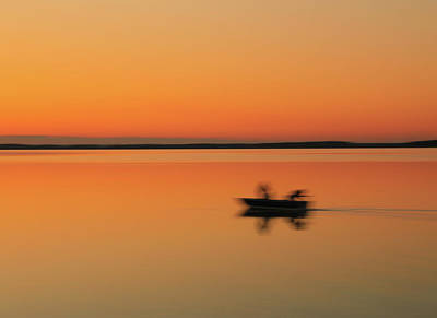 Photograph - Sunrise Fishing Blur by Dan Sproul