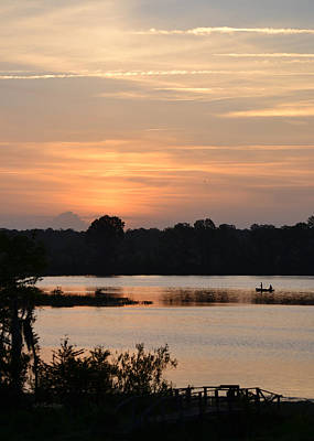 Photograph - Sunrise Fishing Morning by rd Erickson
