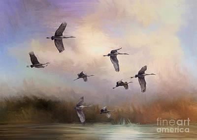 Sunrise Flight Art Print by Janice Rae Pariza