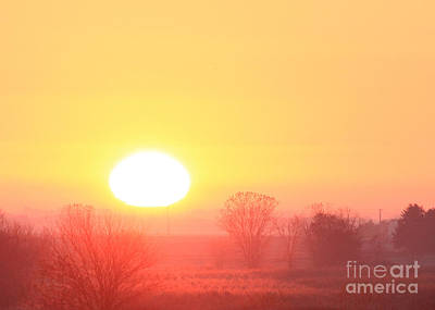 Photograph - Sunrise Foggy Morning by Paula Guttilla