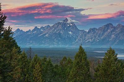 Fresh Air Photograph - Sunrise From Signal Mountain by Mark Kiver