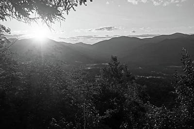 Photograph - Sunrise From The Brother Of Big Slide Keene Valley Ny Black And White by Toby McGuire