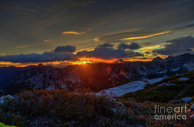 Photograph - Sunrise From Zupjok Peak by Rod Wiens