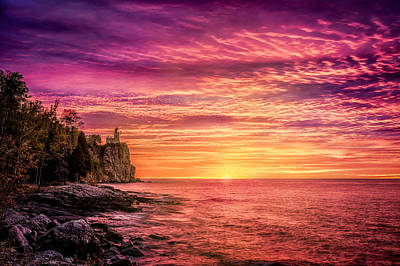 Photograph - Sunrise Glow At Split Rock by Rikk Flohr