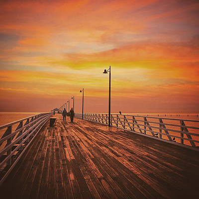 Photograph - Sunrise Glow Down On The Pier by Keiran Lusk