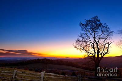 Photograph - Sunrise Glow In Autumn by Dan Carmichael