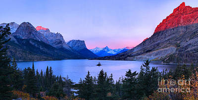 Photograph - Sunrise Glow Over Wild Goose Island by Adam Jewell