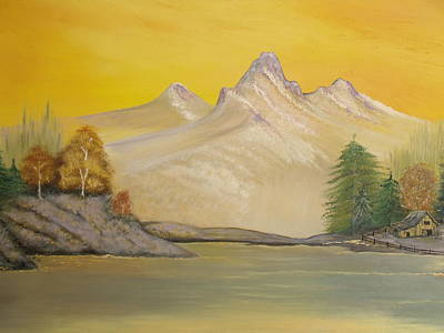 Painting - Sunrise Golden Glow by Patti Lennox