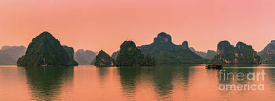 Sunrise Halong Bay, Vietnam Art Print by Henk Meijer Photography