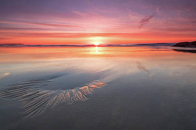 Sunrise At The Beach Photograph - Sunrise, Hampton Beach, Nh by Jeff Sinon