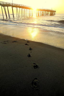 Photograph - Sunrise Heart And Footprints 11 5252016 by Mark Lemmon