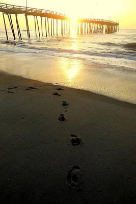 Photograph - Sunrise Heart And Footprints 11 5252016 by Mark Lemmon