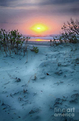 Painting - Sunrise Hike On The Outer Banks Ap by Dan Carmichael