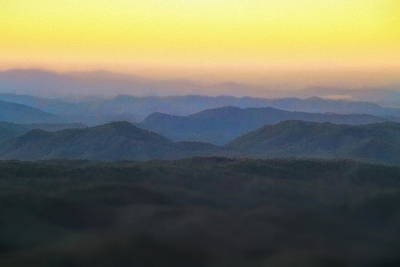 Mixed Media - Sunrise Horizon Over The Great Smoky Mountains by Dan Sproul