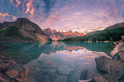 Photograph - Sunrise Hour At Banff by William Lee