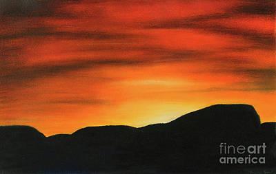 Mesa Drawing - Sunrise I  by Marcia J Popp