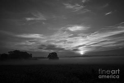 Photograph - Sunrise In B - W by David Bearden