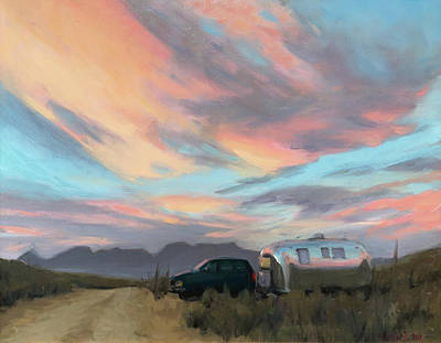 Painting - Sunrise In Big Bend by Elizabeth Jose