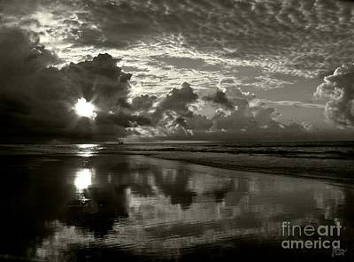 Photograph - Sunrise In Black And White 2 by Jeff Breiman