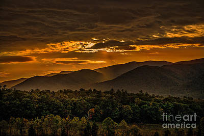 Sunrise In Cades Cove Great Smoky Mountains Tennessee Art Print