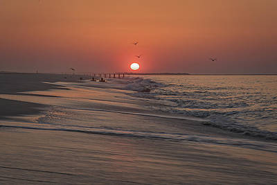 Photograph - Sunrise In Cape May by Rick Berk