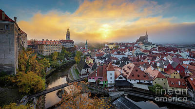 Photograph - Sunrise In Cesky Krumlov by JR Photography