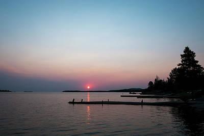 Photograph - Sunrise In Copper Harbor Michigan by Mary Lee Dereske