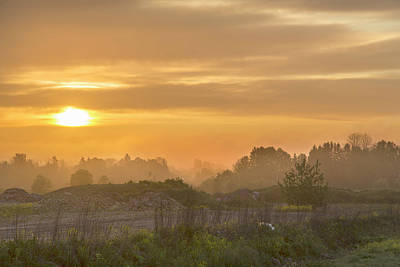 Photograph - Sunrise In Countryside by Sandra Rugina