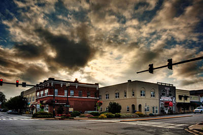 Murphy Photograph - Sunrise In Downtown Murphy North Carolina by Greg Mimbs