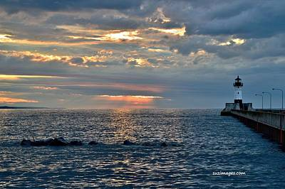 Sunrise In Duluth Art Print by Susie Loechler