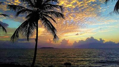 Photograph - Sunrise In Fajardo, Puerto Rico by Ron Bartels